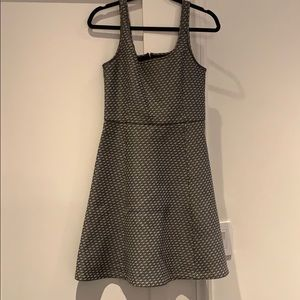 Grey and white a line theory dress